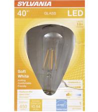 Sylvania LED 4.5W 40 watt replacement ST19 shape vintage glass light bulb 40w