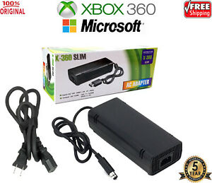 New OFFICIAL Microsoft XBOX 360 Power Supply (Original OEM AC Adapter) + Cable