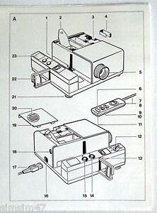 Originale Bedienungsanleitung Diaprojektor RS 811 AF-A
