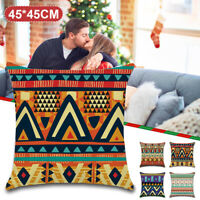 Vintage Totem Flower Polyester Pillow Case Waist Sofa Cushion Cover Home Decor