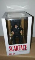 "SCARFACE MOVIE ICONS TONY MONTANA IN CHAIR PVC STATUE FIGURE SD TOYS 7"" / 18cm"