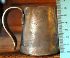 1871 Antique Imperial Measuring Bronze Brass Big Mug Glass for Alcohol