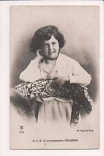 Vintage Postcard Princess Yolanda of Savoy, Countess of Bergolo