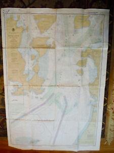 NOAA NAUTICAL CHART #18429 ROSARIO STRAIT S PART, PUGET SOUND WA, 2ND ED. 1980