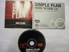 SIMPLE PLAN When I'm Gone – 2007 USA CD PROMO – Alternative Rock - RARE!