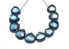 10 pcs LONDON BLUE TOPAZ 8mm Faceted Teardrop Beads AA /h15