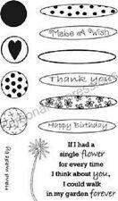 Art stamps A6 timbres clair construire une fleur pics023 Marion emberson vous remercier souhait