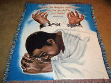 If The Son Therefore Shall Make You Free ~African American Tapestry Afghan Throw
