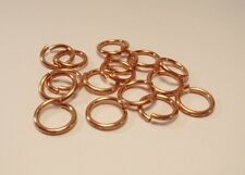 22GA O/D 5 MM 700 PCS. 1 OZ  GENUINE SOLID COPPER OPEN ROUND JUMP RING