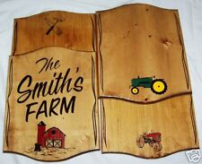 PERSONALIZED Wood SIGN Barn Shop Garage,John Deer Like