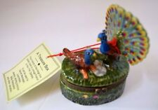 Limoges Inspire 3 Peacocks Trinket Treasure Hinge Box Excellent Condition W/ Tag