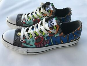 ALL STAR CONVERSE Low top MARS INVASION Unearthly Rare Artwork Unisex Size UK 7