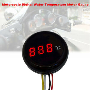 Motorcycle Digital Thermometer Water Temperature Meter Gauge with Sensor Cable