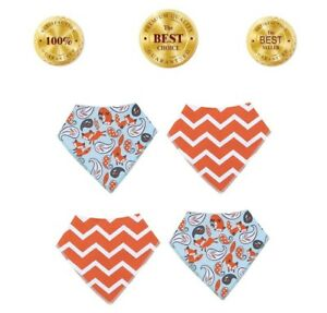 Baby Bandana Drool Bibs for Girls & Boys for Drooling and Teething 100% Cotton