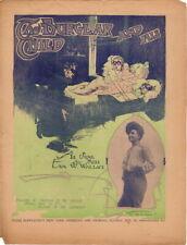 The Burglar And His Child, Eva M. Wallace newspaper supplement sheet music, 1904