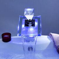 Deck Mounted Bathroom LED Basin Mixer Taps Glass & Brass Waterfall Sink Faucet