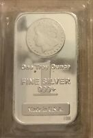 1 Troy Ounce .999 Fine  Morgan Design Silver Bar SEALED From Mint