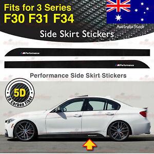 For BMW F30 F31 F34 3 Series M Performance Side Skirt 5D CARBON FIBER Sticker AU