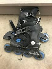 K2 Raider Adjustable Black Inline Skates Youth Size 11-2 Roller Blades
