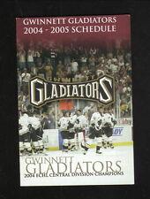 2004-05 Gwinnett Gladiators Schedule--Kroger