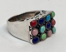925 Thailand Multistone Ring; Size 7
