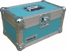 "7"" Single 200 Swan Flight Case Vinyl Record Box (Turquoise Rigid PVC)"
