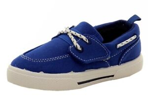 Carter's Toddler Boy's Cosmo 3 Blue Canvas Loafers Boat Shoes Sz: 9T