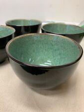 Belmont Stoneware Reactive Noodle Bowls 24oz-Threshold -Green/black- Box of 4
