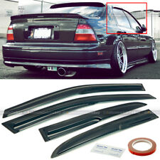 For 94-97 Accord 4DR Sedan Mugen Style 3D Wavy Black Tinted Window Visor 4 Pcs