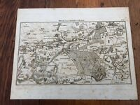1792 topographical map - part of the great road from london to bath & bristol. 8