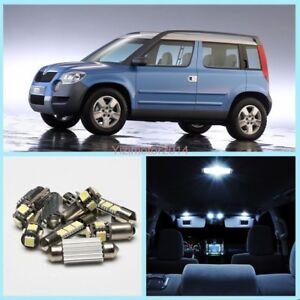 5x Canbus LED SMD Car Interior Light Package Kit For Skoda Yeti  No Error White