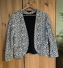 H&M Black And White Animal Print Jacket Size S / 10 / 12