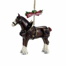 Budweiser Clydesdale Horse Glass Ornament