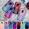For Huawei Mate 20 Pro 10 P30 Lite Gradient Tempered Glass Hard Phone Case Cover