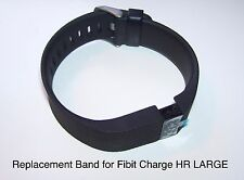 Replacement Band Strap Kit for Fitbit Charge HR Activity Tracker LARGE Black NEW