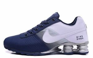 Men's Nike Shox Deliver Shoes Blue White Sizes 7-11
