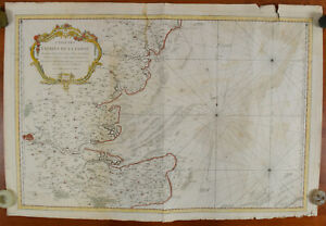 Bellin 1759 Map of the Entrance to the River Thames UK