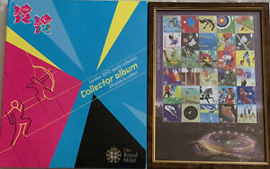 2012 London Olympic Games 50p Coin Full Set & Completer Medallion & Stamps Sheet