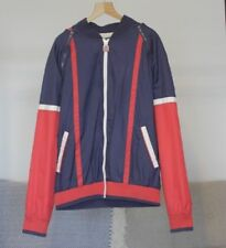 VINTAGE FILA WHITE LINE SPORTS JACKET WITH ZIP ARMS - BEAUTIFUL DESIGN - SIZE M