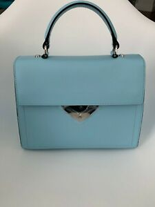 NWT Coccinelle B14 medium - Top handle in Calf leather Light Blue