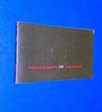 VTG 1970 Polaroid Instant Land Pack Camera Auto 125 Instruction Manual Booklet