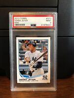 2013 Topps Mini Derek Jeter Yankees Baseball Card #373 PSA 9 Mint