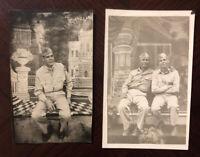 UNUSED Rare 1945 World War II WW2 Lot of 2 Photo Post Cards Carte Postale