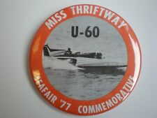 Seafair Boat Club 1977 Miss Thriftway Commemorative Hydroplane Button Hydro Pin