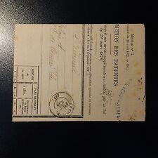 NAPOLÉON N°27 SEUL / LETTRE COVER IMPRIMÉ AVERTISSEMENT CONTRIBUTION  PATENTES