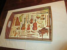 """Instruments of Musique Serving Tray , Paris , 19"""" X 14"""" X 2 1/2"""" , Vintage"""