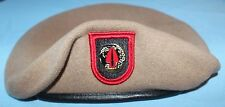 Authentic New 1SFOD-D, CAG, DELTA Force SINE PARI Tan Beret, Scarcely Seen Item