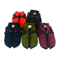 Pets Autumn Winter Warm Coat Costume Cotton Padded Vest With Chest Strap Harness