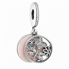 Butterfly Flower Silver Charm Bead Dangle Fit European 925 Sterling Bracelets