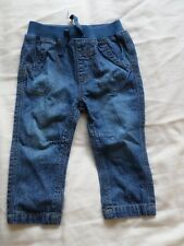 George Boys Girls Unisex Blue Jeans Size 3-6 Months